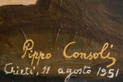 (Dettaglio) Giuseppe Consoli, Strage di Portella della Ginestra (1951) Riproduzione fotografica. Roma, CGIL sede nazionale. Photo by Studio Figure (Giulia Ticozzi & Giuseppe Fanizza)